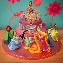 2 Tiered Disney Princess Cake