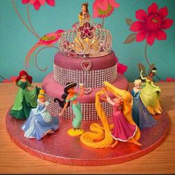 2 Tiered Disney Princess Cake