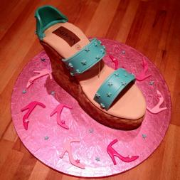 High Heeled Wedge Shoe Cake