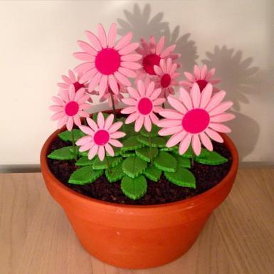 Large Flower Pot Cake