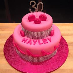 2 Tiered Girly Cake