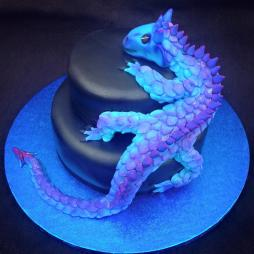 2 Tiered Dragon Cake