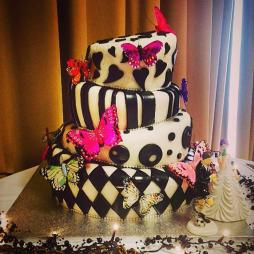 Faye and Tom's Mad Hatter Themed Wedding Cake