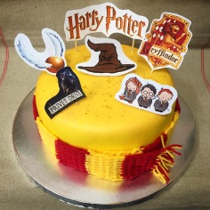 1 Tier Harry Potter Cake