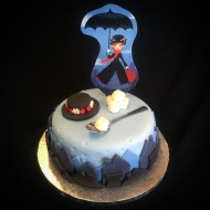 1 Tier Mary Poppins Cake