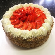 Strawberry and Hazelnut Gateau