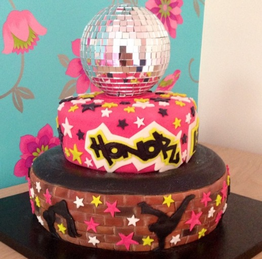 2 Tiered Street Dance Cake