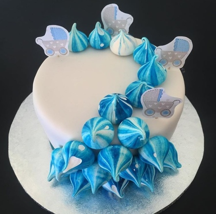 1 Tier Baby Shower Cake